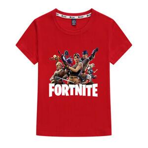 Fortnite Summer T-Shirt Kids Boys Short Sleeve Tops Cartoon Cotton Costume