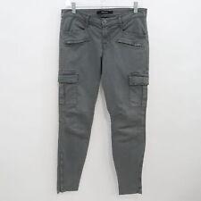 J Brand Cargo Skinny Ankle Jeans Grayson Womens W28 L29 Army Green Zipper Pocket