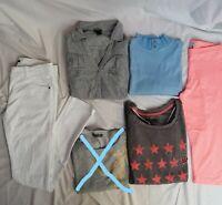 LOT de 5 vêtements fille 14ans pantalon en jean's blanc Kiabi comme neuf pull