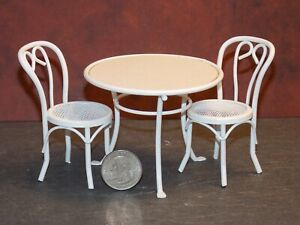 Dollhouse Miniature Patio Table Set Clear Top  1:12 scale H93 Dollys Gallery