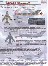 Print Scale Decals 1/72 MIKOYAN MiG-19 FARMER Russian Jet Fighter