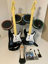 RockBand Bundle PS3 - Wireless - Drums 2x Guitar 2x Dongle & Mic Playstation 3 4
