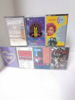 Lot of 7 Greatest Hits / Compilation Cassette Tapes - Hip Hop, 70's & 80's Rock