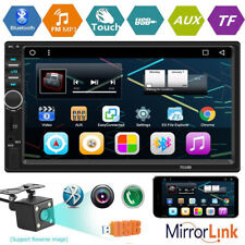 Bluetooth FM Player Stereo Radio Car 2Din 7'' HD MP5 Touch Screen+Rear Camera V9