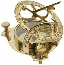 India Overseas Trading Corp Br 48342X Brass Sundial Compass