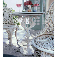 TABLE ONLY Authentic Cast Iron Bistro Style Cream Color Marble Top Dragon Table