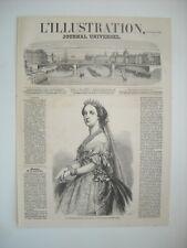 GRAVURE 1859. S. M. L'IMPERATRICE EUGENIE. PAR MARC.