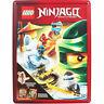 NEW LEGO Ninjago Happy Tin Activity Kids Gift Set Books & Buildable Ninja Model!