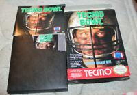 Tecmo Bowl (Nintendo Entertainment System NES 1989)  w/ Box & manual