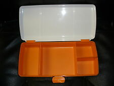 Orange TUPPERWARE Lunch N Things Storage Lunch Box Sandwich Juice Keeper 4195A