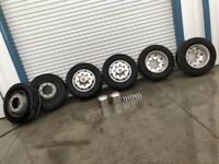 08 Allegro Open Road RV Motor Home 8 Lug 19.5x7.50 ALUMINUM Wheels Rims w Tires