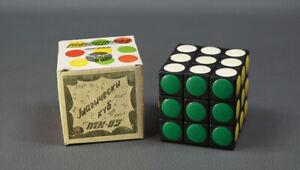 Bulgarian 1980's Rubik Cube Inlay Polka Dot Brain Puzzle Toy 3x3x3 New Box