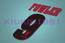 Liverpool Fowler #9 1996-1997 Awaykit Nameset Printing