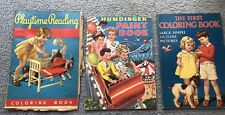 Lot Of 3 Vintage Children's Coloring/Paint Books**1930's & 1940
