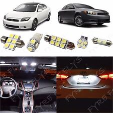 7x White LED lights interior package kit for 2008-2014 Scion tC ST1W