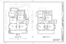 Spacious Victorian Style home plan, many bedrooms, porch, architectural drawings