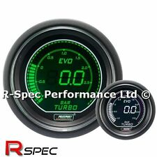 GENUINE Prosport 52mm Evo Green White Display LCD Digital Turbo Boost Gauge BAR
