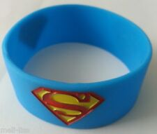 Silicone Ladies,Men, Unisex Super Man Band Bracelet- Bangle- Rubber Wristband