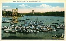 HALIFAX NOVA SCOTIA CANADA WATER SPORTS NORTH WEST ARM VINTAGE POSTCARD