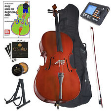 Cecilio 3/4CCO-100 3/4 Beginner Student Acoustic Cello with Tuner Stand - Neutral
