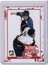 ANDREW PETERS VS. RAY EMERY 10/11 ITG Enforcers Bloody Battles #81 Card