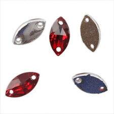 150x 24073 Horseeye Faceted Sew-on Flatback Embellishment Button Applique 6x12mm