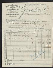 """SAINT-JUNIEN (87) USINE du BAS-MOULIN /  PAPIERS D'EMBALLAGE """"DUSSOULIER"""" 1915"""