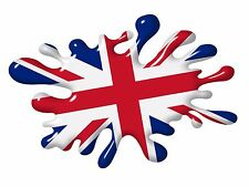 3D Printed Effect SPLAT Union Jack British Flag car sticker Decal MOD Scooter