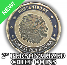 50 Chief Master Sergeant CMSgt U.S. Air Force Challenge Coins w/ FREE ENGRAVING
