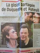 PASCAL DUQUENNE ET DANIEL AUTEUIL : PRIX D'INTERPRETATION A CANNES 21/05/1996