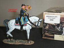 King and country CW60 American Civil War Unión Corneta montado Metal Soldado de juguete