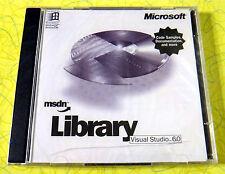 Microsoft MSDN Library Visual Studio 6.0 ~ New Sealed ~ Computer Software