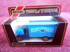 Models of Yesteryear Y30 - 1920 AC Mack - Acorn Storage Co. Matchbox