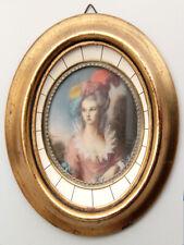 Ritratto in miniatura di giovane Dama - Portrait miniature d'une jeune femme