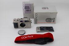 【AB- Exc】 CONTAX G1 35mm Rangefinder Film Camera in Box w/ DATA BACK GD-1 #2777