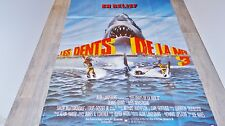 LES DENTS DE LA MER 3  jaws !  affiche cinema