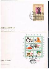 DDR 1981, 44 FDC - Jahrgang mit Buchexport-alle ohne Anschrift,hoher KW