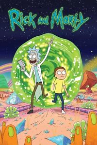 Rick And Morty Glossy Canvas Wall Poster TV Show Decoration Home Size A4