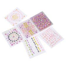30 Sheets Self Adhesive Flowers Nail Art Stickers Nails Decals DIY Manicure Tool