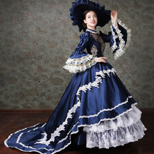 Women Medieval Renaissance Rococo Victorian Trail Wedding Dress Cosplay Costume