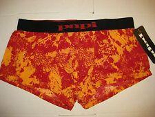 MEN'S PAPI BRAZILIAN BOXER BRIEF RED/ORANGE L 36-38 NWT