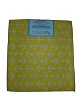 Anchors Fat Quarter Bright Yellow Cotton quilting masks fabric yellow White