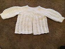 Newborn  cardigan Hand Knitted