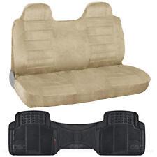 Suited Truck Front Bench Seat Cover & Odorless Floor Mat Liner - Beige Regal