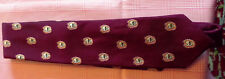 Drakes 100% Silk tie in Dark red with flaming skull