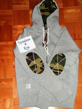Size? UK hoodie gray Small 100% cotton camouflage