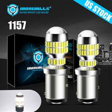 1157 1156 Led White Ultra Bright Brake Tail Stop Light Reverse Parking Bulbs 6k