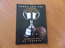 1987 GREY CUP program Edmonton vs TORONTO -VG condition
