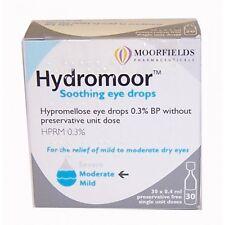 Hydromoor Soothing for dry eyes 0.3% Hypromellose 30 x 0.4ml vials Moorfields