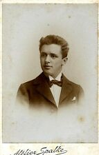 German Cabinet Card Photo Handsome Young Man Wetzlar Germany